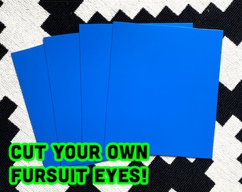 Blue Fursuit Eye Plastic Sheets for fursuit, mascot, costume making diy, styrene plasticard cosplay - TRACKED & FAST SHIPPING