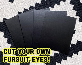 Black Fursuit Eye Plastic Sheets for fursuit, mascot, costume making diy, styrene plasticard cosplay - TRACKED & FAST SHIPPING