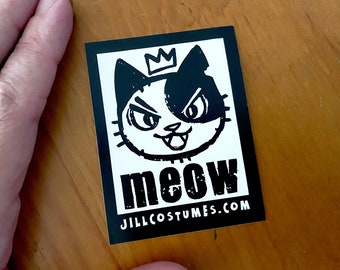 JILLCOSTUMES Logo furry Vinyl Sticker, cute, kitty, cat, cartoon, decal, for laptop and more!