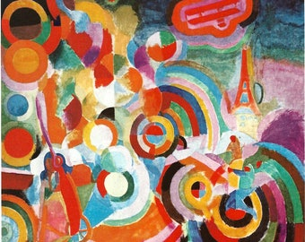 Robert Delaunay - Homage to Bleriot, 1914 to Frame or to use in Paper Arts and Collage PSS 3212