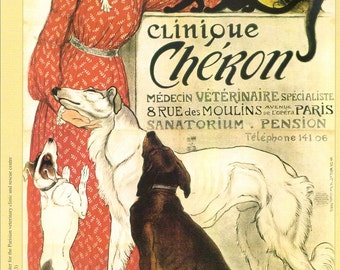Clinique Cheron By Steinlen Print on Paper /& Canvas Giclee Poster
