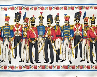 Vintage French Soldier Wallpaper for Decoupage, Paper Arts, Collage, Scrapbooking and Assemblage PSS 3549