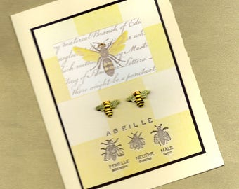 Abeille - A French Bee All Occasion Greeting Card PSS 1382