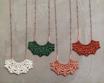 long lace necklace   LAUREL   victorian necklace, unique jewelry, bridal jewelry, romantic, boho necklace, vintage lace, girlfriend gift