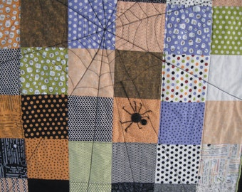 NEW Halloween Spider Web Table Topper or Wall Hanging made with Boo Crew Fabric from Sweewater