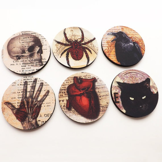 Home Decor Hostess Gifts: Halloween Home Decor Coasters Hostess Gift Party Favors