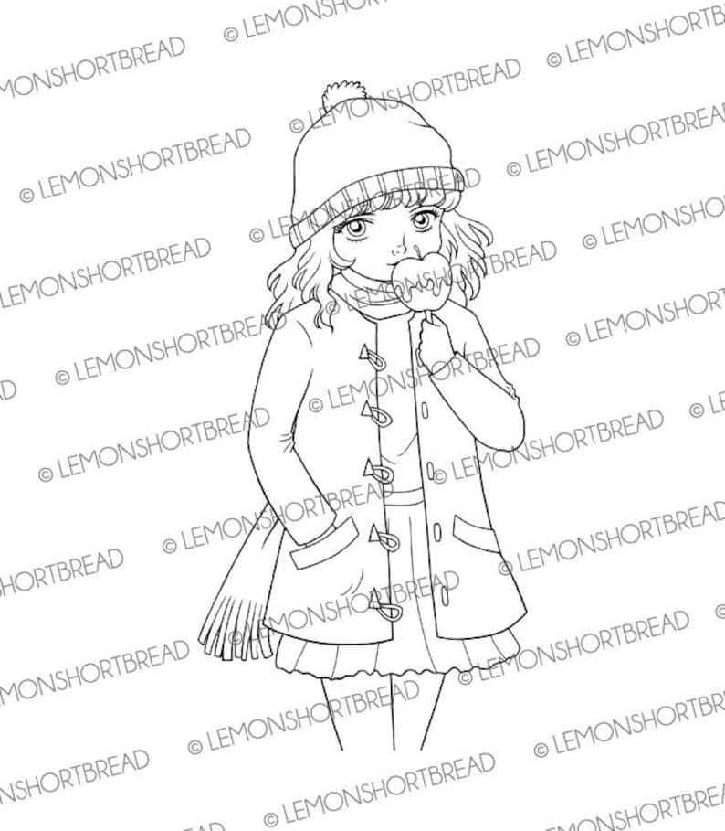 Digital St Candy Apple Girl Digi Download Toffee Caramel Etsyrhetsy: Caramel Apple Coloring Pages At Baymontmadison.com