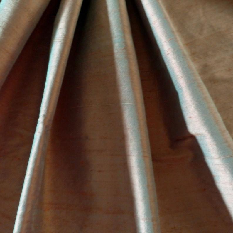 100/% Dupioni Silk Drapery Fabric Brassy Gold 4 Yards