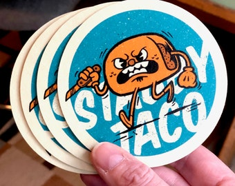 Stabby Taco - Set of 4 Coasters