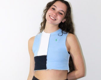 Vintage reworked\u2019San Francisco cropped top size small