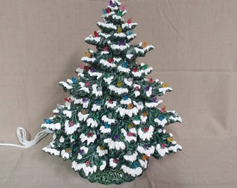 Made to Order Ceramic Christmas Tree Lighted 17