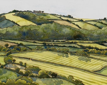 Archival print of summer landscape 'Greenawell' by Danielle Barlow