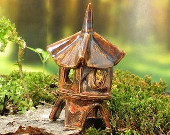 "Fairy Terrarium Miniature Pagoda Lantern - 2-1/8"" tall"