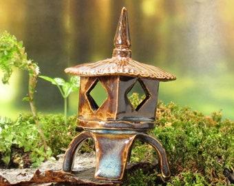 "Fairy Terrarium Miniature Pagoda Lantern - 2"" tall"