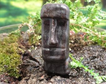 """Terrarium Easter Island Head - under 2"""" tall"""
