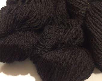 Black Llama/Merino Blend Yarn, Natural Black Yarn, Llama Yarn, Merino Yarn, Llama Blend Yarn, Wool Yarn, Alpaca Yarn, DK weight yarn