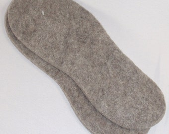 Natural Felt Insoles - Llama, Alpaca, Wool - US Made - Gift, Boots, Hiking, Skiing, Winter, Warm, Fishing