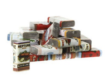Old Fashioned Miniature Canned Foods