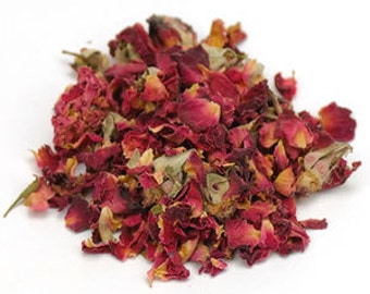 Red Rose Buds & Petals Whole - 7 ounces