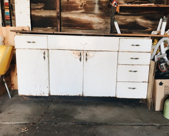 1940s Or 1950s Youngstown For Mullins Kitchen Metal Cabinets Etsy
