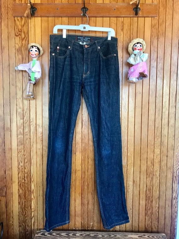 Vintage 90s Guess Jeans sz 29 dark blue - black la
