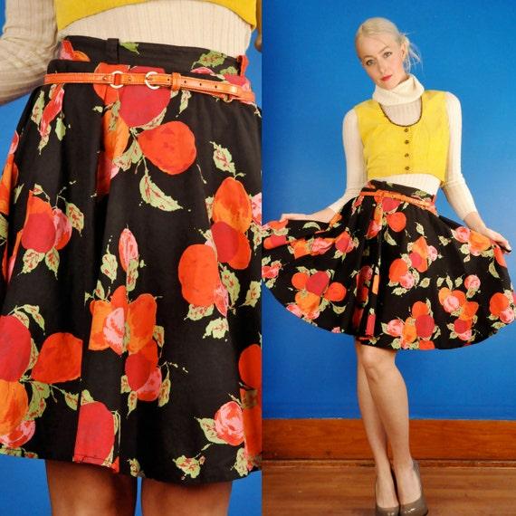 Black Plum Vintage 50s Orange & Red Fruit Print Mi