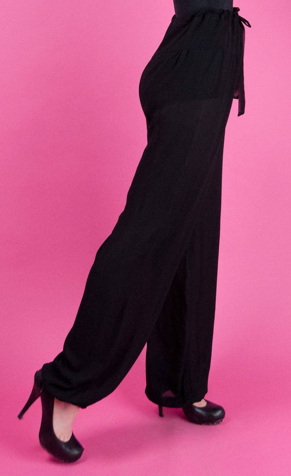 THEA PORTER COUTURE Vintage 70s Sheer Black Chiff… - image 2