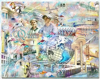 Queens New York  Artistic Collage