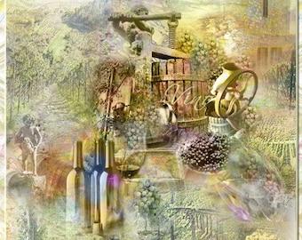Vineyard Artistic Collage