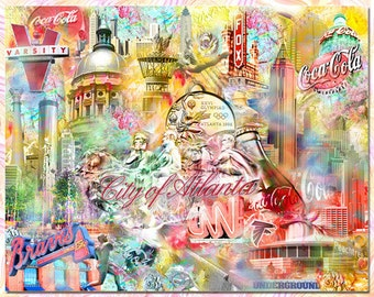 City of Atlanta, an Artistic Collage