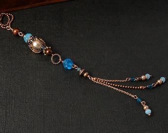 Aqua Long Pendant #5