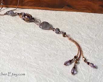 Lavender Long Pendant #9