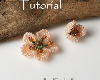 TUTORIAL for Bead woven Cherry blossom