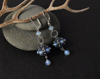 Moonstone Winter earrings