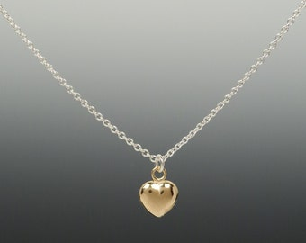 Tiny Gold Heart on a Chain