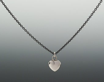 Tiny Silver Heart on a Chain