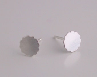 Single Small Flower Stud Earring - silver RESERVED for Susan Palsa