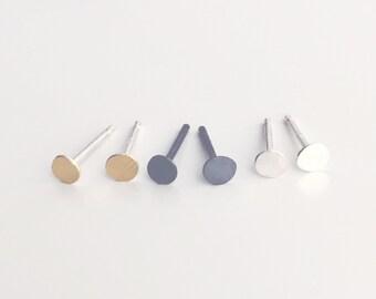 SALE - tiny stud earring set of 3 pairs - tiny gold, tiny oxidized and tiny bright silver
