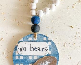 Bears high school football: Wooden sign / circle wall hanging / door decor / door hanging Georgia