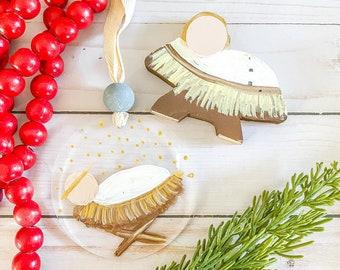 BABY JESUS SET - shelf sitter and Christmas ornament