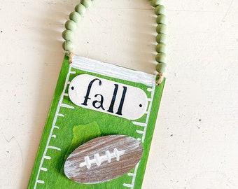 Fall football /  Wooden sign / handpainted / door decor