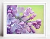 Lilac Flowers Print, Flor...