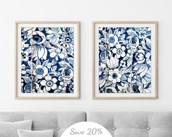 571921f408683 Blue And White Wall Art - Lisbon Portuguese Tiles Print - Portugal Tile  Azulejos - Set of Two Prints - Floral Wall Art Travel Photography