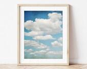 Cloud Wall Art, Nature Ph...