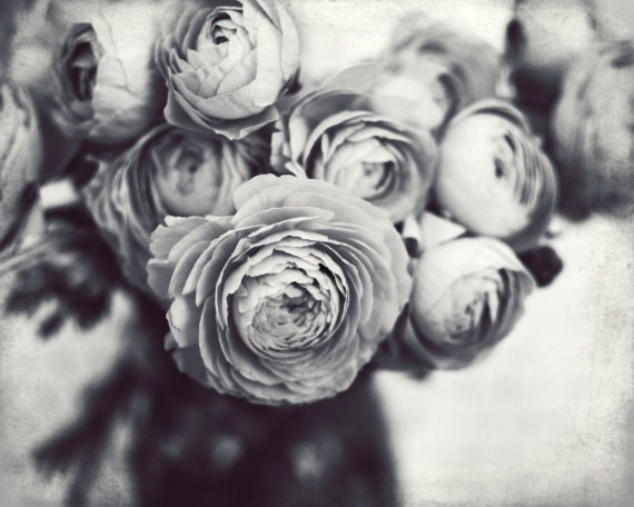 Black and white flower still life gray botanical wall art etsy image 0 mightylinksfo