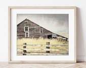Barn Art Print Old Wooden...