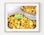 Lemon Wall Art Print, Foo...