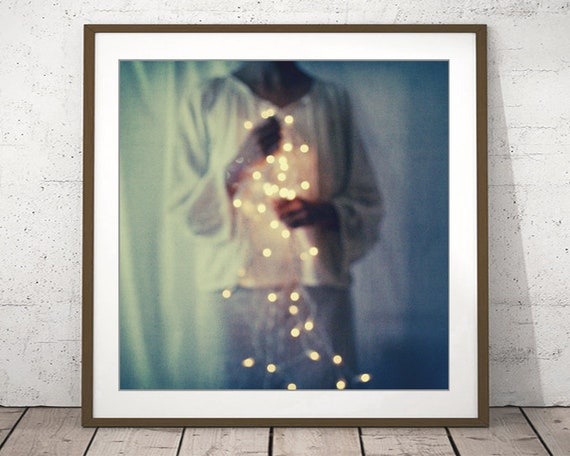 reputable site c06fb b1283 Fine Art Photography, Dreamy Portrait, Stardust Celestial Sparkle, Stars  Bokeh Lights Indigo Blue Angel Fairy Lights / Light from the Heart