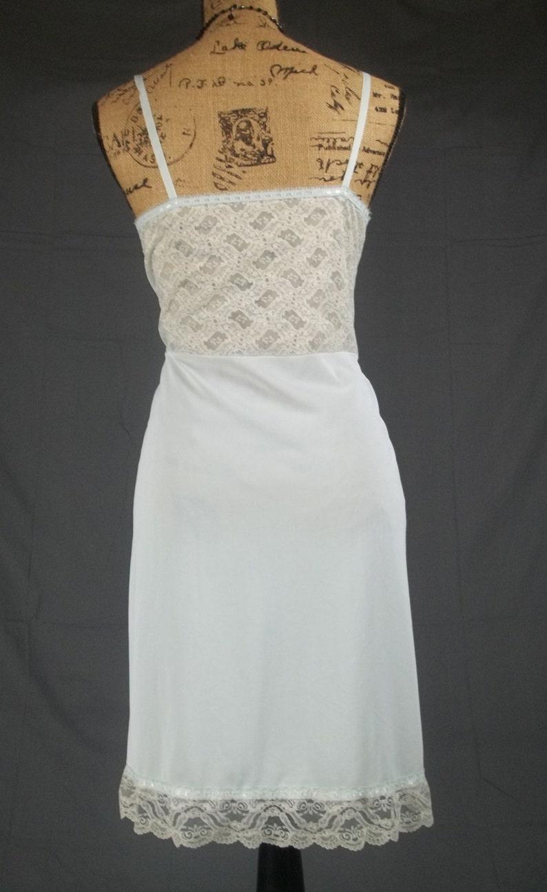 1beedf56544df Vintage 50s nylon full slip sheer lingerie negligee