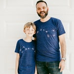 Big Dipper Little Dipper T-Shirt Set, Father's Day Gift Dad and Baby, Father Son or Father Daughter Matching Shirts, Blackbird Supply